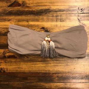 H&M mauve bandeau bathing suit top